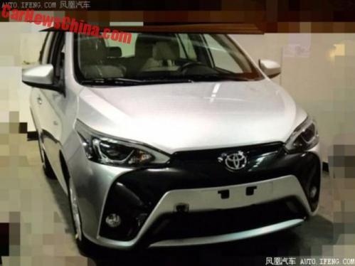 Spyshot Toyota Yaris Facelift
