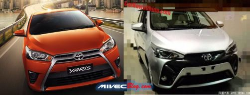 Toyota Yaris 2014 vs Yaris Facelift 2016