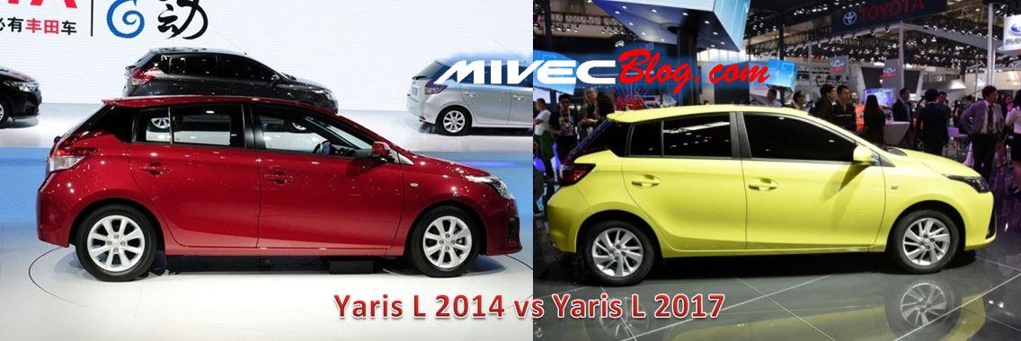 Yaris L 2014 vs 2017