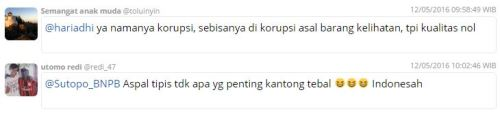 Beberapa komentar Netizen