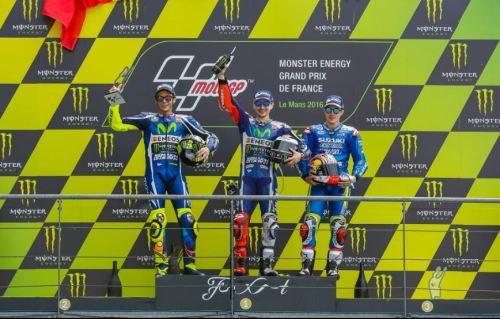 Podium MotoGP Le Mans 2016