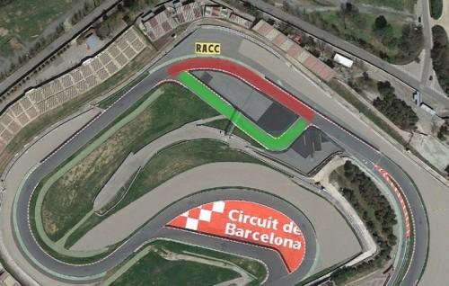 Catalunya Circuit for MotoGP 2016 - Use Green Layout