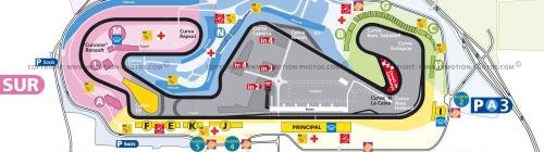 Layout Sirkuit Catalunya untuk MotoGP