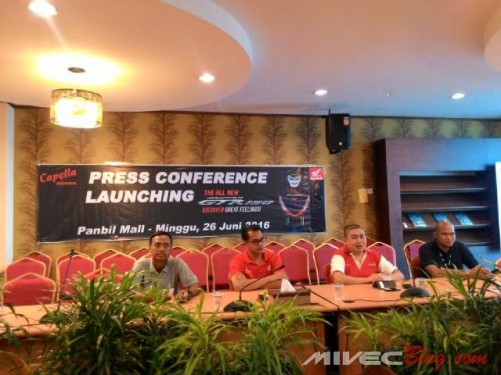 Press Conference Launching Supra GTR 150 Batam