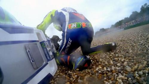 Rossi Crash di Assen 2016