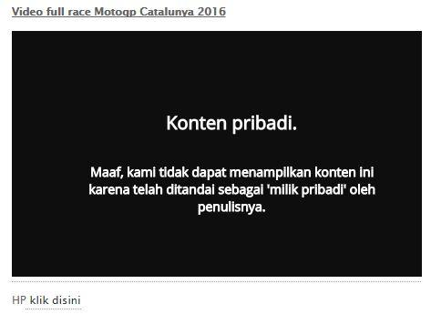 Video tidak bisa diakses