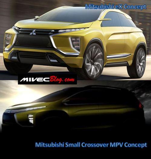 Mitsubishi eX Concept vs Small Crossover MPV Concept