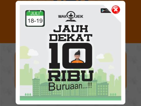 Promo Wak Jek - Jauh Dekat cuma 10.000