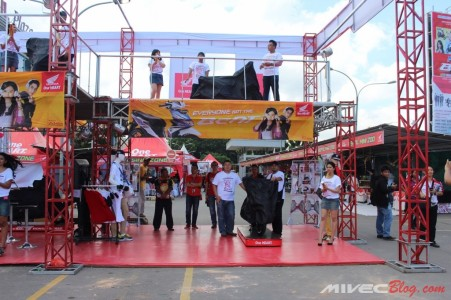 Persiapan Peluncuran All New Honda Beat di Batam