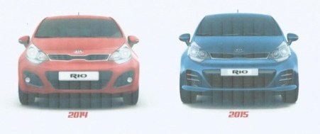 KIA Rio 2014 vs 2015