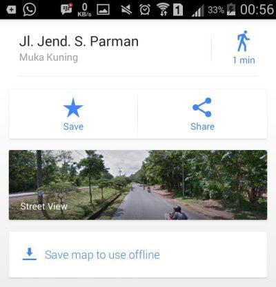 Akses Google Street lewat Google Map