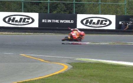 Marquez hampir jatuh di FP2 MotoGP Brno