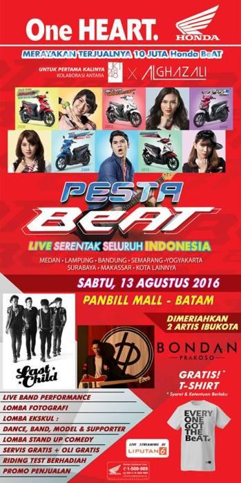 Pesta Beat di Panbil Mall 13 Agustus 2016