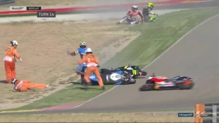 Banyak Pembalap Crash di FP3 Aragon 2016