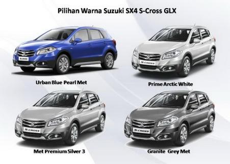 4 Pilihan Warna Suzuki New SX4 S-Cross