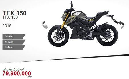 Harga Yamaha TFX150 di Vietnam