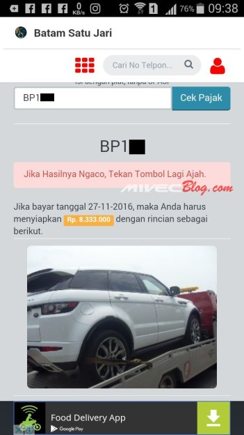 Pajak Range Rover Evoque