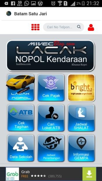 Menu Aplikasi BatamPro