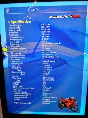 Spesifikasi GSX-R150