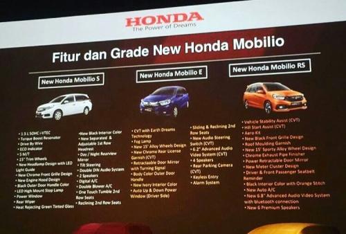 Perbedaan Fitur Mobilio Facelift 2017