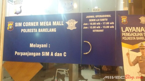 SIM Corner Mega Mall Batam Center