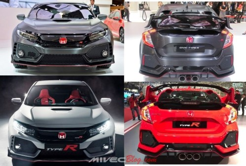 Civic Type R Prototype vs Prod Specs