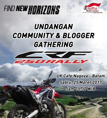Undangan Launching CRF250 Rally di UK Cafe