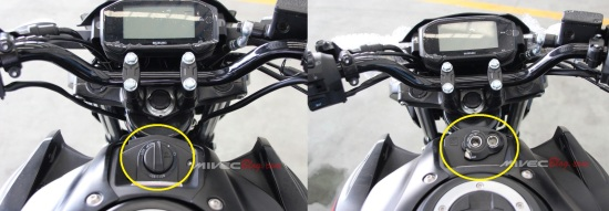 Kiri : GSX-S150 dengan Keyless Ignition, Kanan : GSX-S150 Original