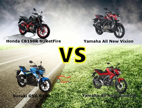 Komparasi New Vixion vs New Vixion R vs GSX-S150 vs CB150R