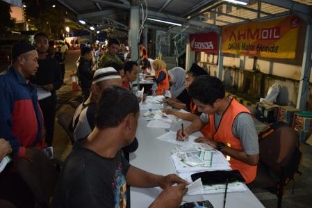 Suasana pendaftaran Mudik Balik Bareng Honda 2016