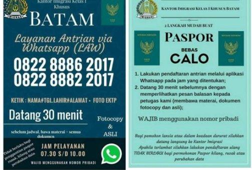 Layanan via WhatsApp Paspor Batam2