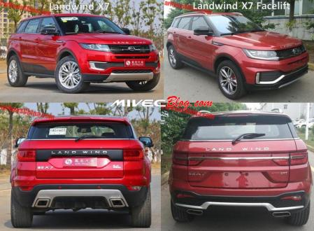 Landwind X7 Lawas vs Facelift