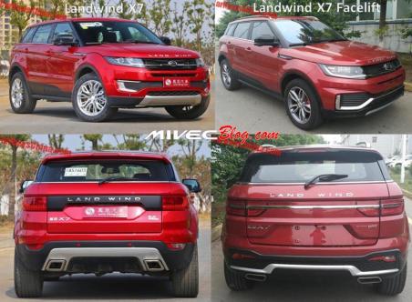 Landwind X7 Lawas vs Facelift