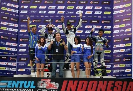 Podium Yamaha Sunday Race Seri 2