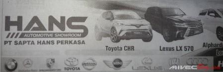 Harga Toyota C-HR Batam