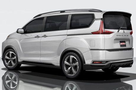 Bagian belakang Mitsubishi Delica versi digital