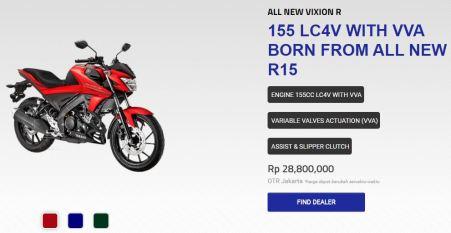 Harga Resmi All New Vixion R OTR Jakarta