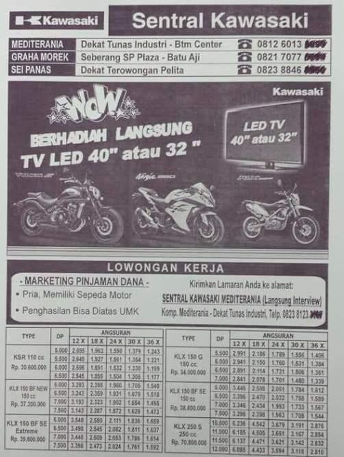Harga KLX150 di Batam