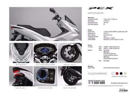 Spesifikasi Honda PCX Indonesia (6)