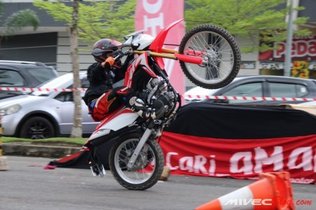 Sesi Test Ride Honda CRF150L di Batam