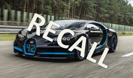 Recall Bugatti Chiron
