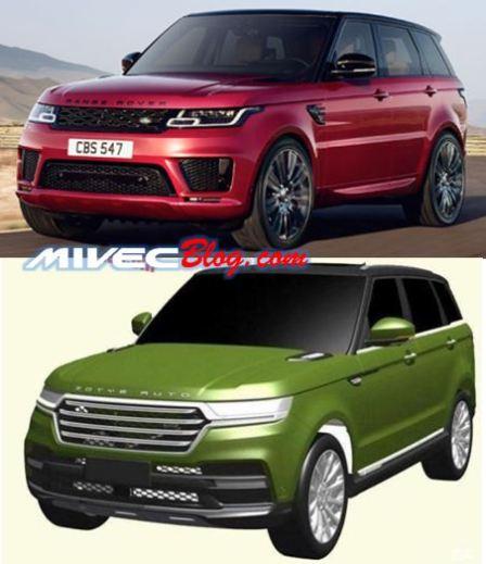 Range Rover Sport vs Zotye T800
