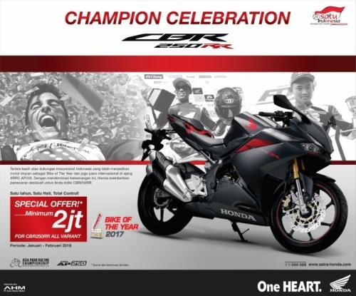 Promo Diskon 2 juta rupiah Honda CBR250RR