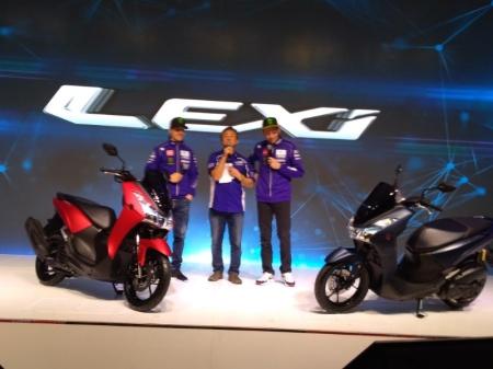 Launching Yamaha Lexi 125 oleh Rossi dan Vinales