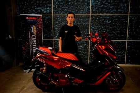 Muhammad Arsyad pemenang kelas Nmax semifinal CustoMAXI Makassar