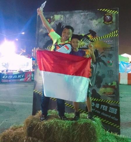 Wawan Tembong dan Wahyu Nugroho di ajang Burapa Battle Stunts 9