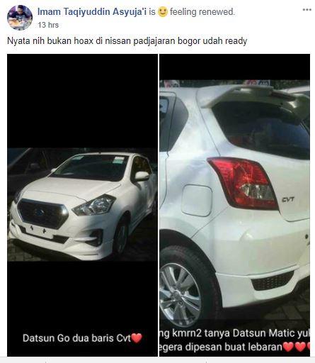 Datsun Go CVT, Sudah Ready di Dealer?