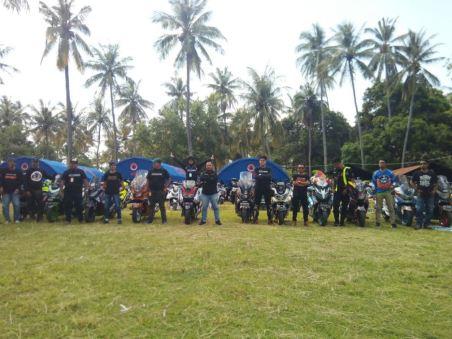 Gathering Nasional ke-3 Yamaha Nmax Club Indonesia (YNCI) di Lombok