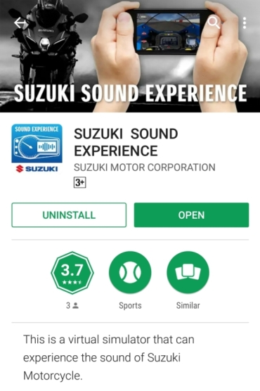 Aplikasi Suzuki Sound Experience