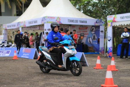 Test ride Mio S di event Blue Core Yamaha Motor Show